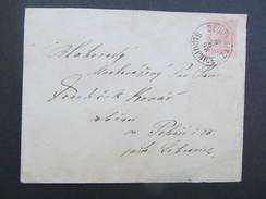 GANZSACHE Sloupnitz Sloupnice - Sebranice 1898 ////  D*24719 - Briefe U. Dokumente