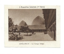 Chromo CONGO BELGE Exposition Coloniale 1931 Pub: Vache Qui Rit Spécimen Bien 76 X 58 Mm - Kaufmanns- Und Zigarettenbilder