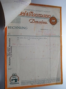 Rodolphe JOST Fils Bruxelles ( Seidel & Naumann DRESDEN ) > Gravier Frasnes Anno 1929 ( Factuur + Reçu ( Tax ) ) ! - Belgium