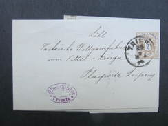 Zeitungsstreifband Trieste - Plagwitz  ////  D*24723 - 1850-1918 Imperium