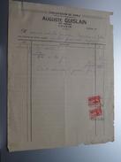 Auguste GUISLAIN Couvin Tél 137 ( Exploitation De Sable ) > Gravier Frasnes Anno 1937 ( Factuur ( Tax ) ) ! - Belgium
