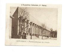 Chromo Exposition Coloniale 1931 Palais De L'Italie Pub: Vache Qui Rit Spécimen Bien 76 X 58 Mm - Kaufmanns- Und Zigarettenbilder