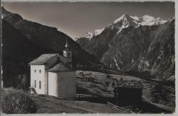 Grächen, Kapelle Eggen Mit Weisshorngruppe - Photo: E. Gyger No. 7615 - VS Valais