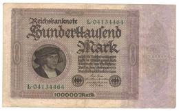 Germany 100 000 Mk. 1923, VF.. - [ 3] 1918-1933 : Weimar Republic