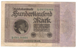 Germany 100 000 Mk. 1923, VF.. - [ 3] 1918-1933: Weimarrepubliek