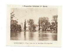 Chromo Exposition Coloniale 1931 Portugal Section Portugaise Pub: Vache Qui Rit Spécimen Bien 76 X 58 Mm - Autres
