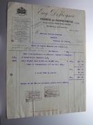 Eug. DEKEYSER Usines De PANNENHUIS Bruxelles ( Pétrole ) > Graviez Boucher Frasnes Anno 1924 ( Factuur ( Tax ) ) ! - Belgium