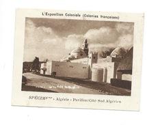 Chromo Algérie Exposition Coloniale 1931 Pavillon Pub: Vache Qui Rit Spécimen Bien 76 X 58 Mm - Chromos