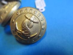 6 Boutons Ancien à Motif Ancre Et Serpent/ Chargeurs Réunis/Doré /A M & Cie/Paris/début XXème Siècle       BOUT59 - Buttons