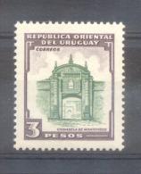 AÑOS URUGUAY 1954 PUERTA DE LA CIUDADELA DE MONTEVIDEO RARE TIMBRE YVERT NR. 637 MNH TBE - Uruguay
