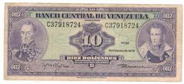 Venezuela  10  Bs. 1979, VF. - Venezuela