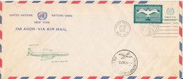 UN New York First Jet Flight Air Mail Cover New York - Bueno Aires 31-5-1959 - New-York - Siège De L'ONU