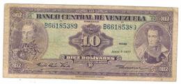 Venezuela  10  Bs. 1977, F/VF. - Venezuela