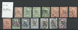 FINLAND FINNLAND 1927/28 Michel 128 - 138 (WM Posthorn) O - Used Stamps
