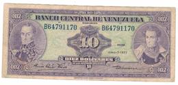 Venezuela  10  Bs. 1977, VF. - Venezuela