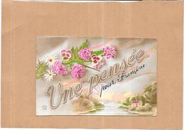 CPA COLORISEE FANTAISIE  - UNE PENSÉE....  Pour FRANCINE     - ORL - - Fantasia