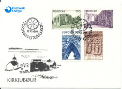 Faroe Islands FDC 5-9-1988 Complete Set Of 4 Cultural Traditions - Faroe Islands