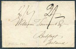 1821 GB Liverpool Ship Letter Cover - Belfast, Ireland - ...-1840 Prephilately