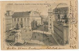Lisboa Praça Luiz De Camoes E Largo Das Duas Egrejas 155 F.A. Martins Circulada A Cardenas Cuba - Lisboa