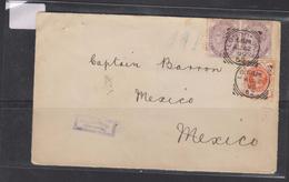 E) 1880 GREAT BRITAIN, CIRCULATED COVER TO VERACRUZ-MEXICO, RARE DESTINATION, XF - England