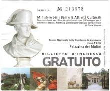 ISOLA D'ELBA - Museo Nazionale Delle Residenze Di Napoleone - Palazzina Dei Mulini - Biglietto D'ingresso Gratuito - Usa - Tickets - Vouchers