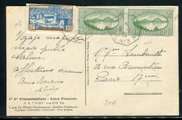 France - Oblitération Ligne De Bateau Sur Carte Du SS Cuba En 1939 Pour Paris , Affranchissement Guadeloupe - Ref  J 69 - Storia Postale