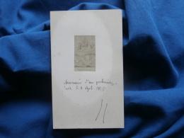 Image Albuminée Contrecollée Format Photo CDV - Souvenir D'un Pélerinage Notre Dame De Font Romeu Datée 1858 L315 - Fotos