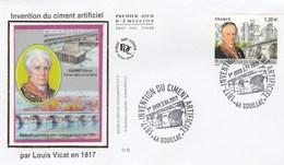 FDC 2017 - Invention Du Ciment Artificiel - Louis Vicat - 1er Jour Le 02.06.2017 à 46 Souillac - FDC