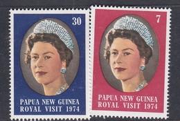 Papua New Guinea SG 268-269 1974 Royal Visit MNH - Papua New Guinea