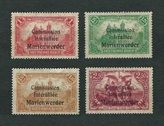 MARIENWERDER 1920 - Vote In West Prussia (Commission Interalliée) - MH - Mi:DR-MW 26-29 - Settori Di Coordinazione