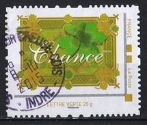 France : Timbre Personnalisé : Chance - France