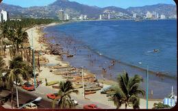 Acapulco - Panoramica Hacia La Concurrida Praya Hornos 1989 (000450) - Mexiko