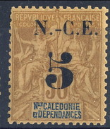 Nouvelle Caledonie 1902 N. 65 C. 5 Su C. 30 Bruno MH Cat. € 15 - Nuovi