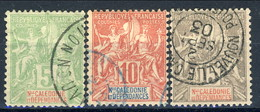 Nouvelle Caledonie 1900-04 N-59-61 Usati Cat. € 5 - Nuova Caledonia
