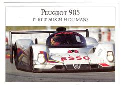 CPM 17cmx12cm PEUGEOT 905 Vainqueur Aux 24 H Du Mans 1992 Warwick Dalmas Blundell Alliot Baldi Jabouille  Port Gratuit - Le Mans