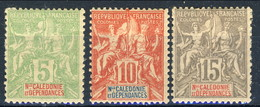 Nouvelle Caledonie 1900-04 N-59-61 MH Cat. € 37 - Nuovi