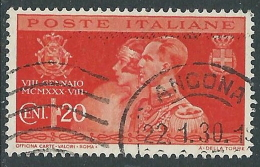 1930 REGNO USATO NOZZE 20 CENT - S269-6 - 1900-44 Vittorio Emanuele III