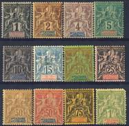 Nouvelle Caledonie 1892 Serie N. 41-53 (manca N. 50) MH Cat. € 330 - Nuovi