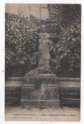 77 SEINE & MARNE - CP MARLOTTE - ATELIER ET MONUMENT OLIVIER DE PENNE - CIRCULEE EN 1924 TIMBRE JEUX OLYMPIQUES PARIS - Altri Comuni
