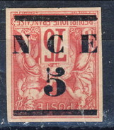 Nouvelle Caledonie 1883-84 N. 7a C. 5 Su C. 75 Carminio Sovrastampa Rovesciata MH Cat. € 90 - Nuovi