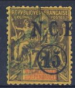 Nouvelle Caledonie 1900-01  N. 57 C. 15 Su C. 75 Violetto Su Giallo Usato Cat. € 22 - Nuova Caledonia