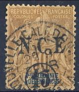 Nouvelle Caledonie 1900-01  N. 56 C. 15 Su C. 30 Bruno Usato Cat. € 6 - Nuova Caledonia