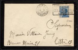 EQUESTRIAN SPORTS - ITALIA MILANO PORTALETTERE 1924 - GRAN PREMIO MILANO A S. SIRO - TARGHETTA 1° TIPO - Ippica
