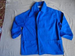 """Ancienne Veste Femme En Toile Coton Bleu """"Au Printemps"""" Années 60 - Vintage Clothes & Linen"""