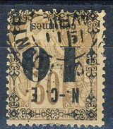 Nouvelle Caledonie 1891-92  N. 12a C. 10 Su C. 30 Bruno Sovrastampa Rovesciata Usato Cat. € 22 - Nuova Caledonia