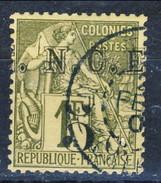 Nouvelle Caledonie 1886 N. 10 C. 5 Su Fr. 1 Oliva Usato Cat. € 35 - Nuova Caledonia