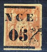 Nouvelle Caledonie 1883-84 C. 5 Su C. 40 Rosso Usato Cat. € 35 - Nuova Caledonia