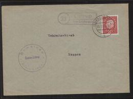 """Bund - MiNr. 304 Als EF Auf Brief Mit Landpost-Stempel """"Listrup über Salzbergen"""", Gelaufen 3.2.1960 - [7] République Fédérale"""