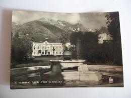 CARTOLINA -   CARRARA  PIAZZA D'ARMI E FONTANA     - B 2246 - Carrara