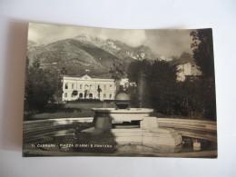 CARTOLINA -   CARRARA  PIAZZA D'ARMI E FONTANA    - B 2247 - Carrara